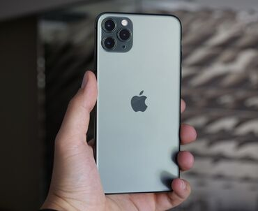 iphone 11 pro цена ош in Кыргызстан   APPLE IPHONE: IPhone 11 Pro Max   64 ГБ   Зеленый Б/У   Гарантия, Кредит, Беспроводная зарядка