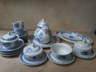 тарелка блюдце в Кыргызстан: Сервис Синий лук.Чехословакия (Bohemia)Витринное хранение.В отличном