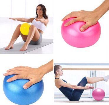 Toplar Bakıda: Balaca yoga üçün fitness top çəmi 9 azn. Evdə pilatesnan, yogaynan