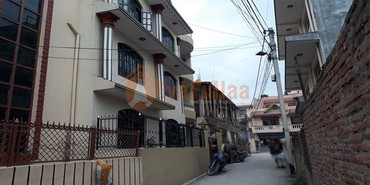 A beautiful and strongly built flat type house having land area in Kathmandu
