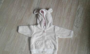 Dečije jakne i kaputi | Mladenovac: Jaknica bela, topla, sa ušima na kapi (2-4 meseca), idealna za