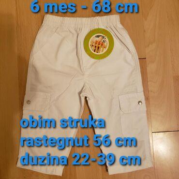 Nove pantalone na gumu, vel 6-68 cm. Idealne za leto i za decake i