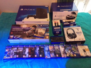 Playstation 4 pro 1tb, vr headset, motion controller, camera, 2x σε Αθήνα