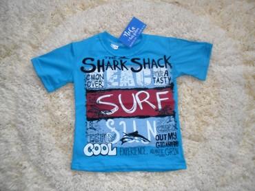 Majice za dečake plava i bela,pamuk,dostupne veličine plava - Paracin