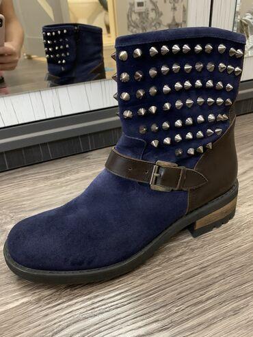 Ботинки натуралка замша комбинированная с кожей. Производство