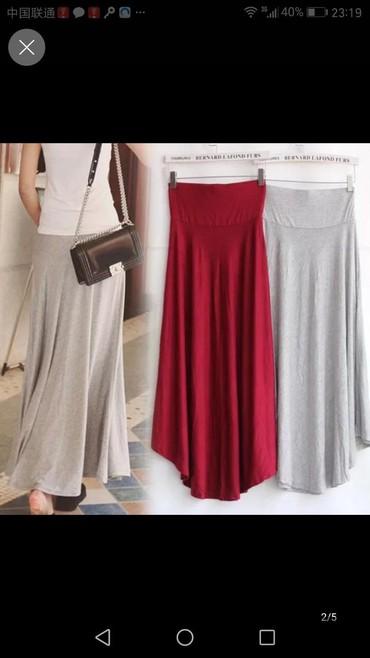 юбки из плотного трикотажа в Кыргызстан: Юбка трикотаж удлиненная, длина миди