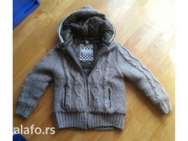 Zara jakna dzemper,prelepa,nosena par puta. 9-10 godina, 140 cm, braon - Beograd