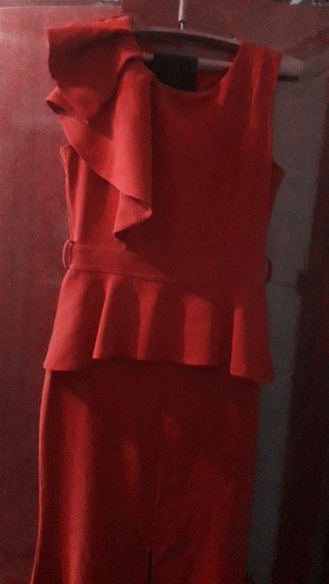 красное длинное платье в пол в Кыргызстан: Платье Продам платьеТурецкого производствадлинное в полНа фото