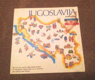 Jugoslavija turisticka mapa 1982 godina - Belgrade