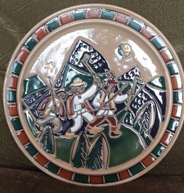Декоративная тарелка, Львовской керамико-скульптурная фабрика