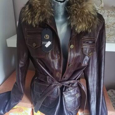 Kozne jakne - Srbija: Kozna jakna cista koza iz Grcke braon boja cena 7000din xxlKo je
