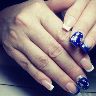 шеллак маникюр наращивание ногтей в Кыргызстан: Наращивание ногтей 800с маникюр+шеллак 400