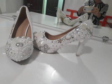 Свадебные туфли 37 размер, очень удобная колодка w/p в Бишкек