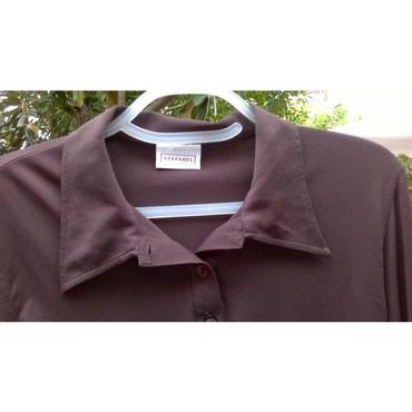 Μπλουζάκι καφέ σκούρο Stefanel Νο.L ( μπορεί να φορεθεί και από Μedium