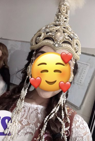 Свадебные платья и аксессуары в Чаек: Продается шикарное (национальное) шокуло+ремень и серьги 13500 сом !пи