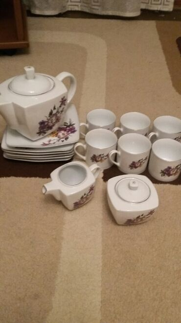 Посуда - Кыргызстан: Сервиз на 6 персон 15 предметов:6 тарелок (в сервизе не блюдца,а тар
