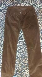 Pantalone-farmerice-br - Srbija: Nove, nenosene braon somotne pantalone. Model poput farmerica, odlicno
