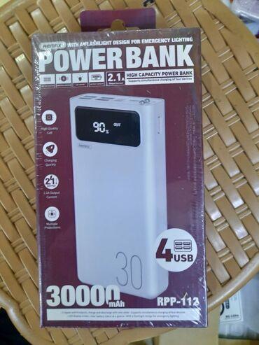 бу аккумулятор в Азербайджан: Remax 30000 mAh PowerBank (4 usb)🔴Heç yerdə original malı bu qiymətə
