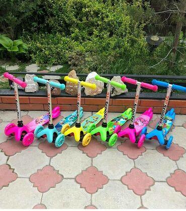 атоми-омега-3-для-детей в Кыргызстан: Самокат для детей от 1,5 до 4 лет scooter и micmax. •Руль