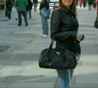 Italijanska-kozna-crna-jakna - Srbija: Mona zenska crna kozna jakna, velicina mdobro ocuvana, originalna