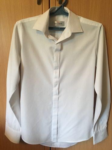 Белые рубашки б/у в отличном состоянии . Размер S, L. в Бишкек