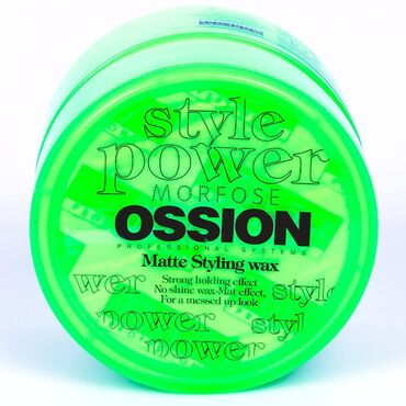 masa və stul - Azərbaycan: OSSİON Matte styling wax 100 ml Saçlarını istədiyiniz formaya salmaq ü