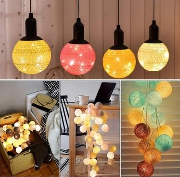 Ukrasni Lusteri Lopte- Led Cotton Ball LampNežne pamučne niti kreiraju