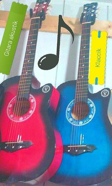 Bakı şəhərində Gitara Akustik ve Klassik her rengi var