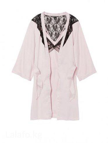 Халатик гипюровый - Кыргызстан: Victoria's secret slip & robe set. Халатик и сорочка. Размер xs