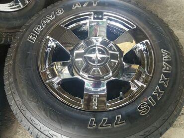 диски момо r18 в Кыргызстан: Колеса r18 для внедорожника toyota (6x139,7)диски и шины в идеальном