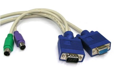 кабели синхронизации vga в Кыргызстан: Кабель KVM M+ PS/2 to VGA F 1.8m - б/у