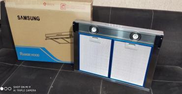Kömür odun - Azərbaycan: Aspirator SamsungYeni model 2 motorlu Led ( ensiz) modelEni 60 sm