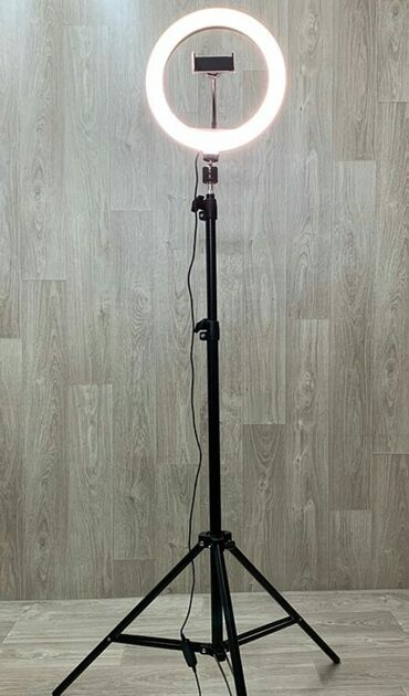 Кольцевая лампа со штативом d 33