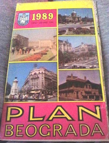 Plan Beograda 1989 god. - Belgrade