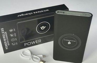 Eksterne baterije | Beograd: Power bank 10000mAh Bezicni -CRNI  Karakteristike:     Output  -