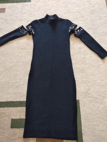 трикотаж платье в Кыргызстан: Продаю трикотажное модное платье лапша