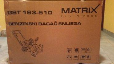 Matrix gst 163-510, cistac snega (kultivator za sneg) tip motora: 4t ( - Zrenjanin