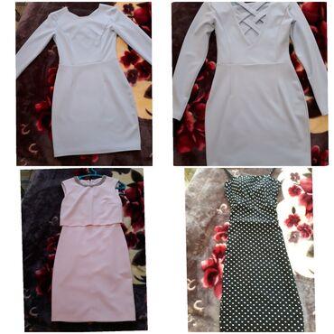 вечернее платье до колен в Кыргызстан: Голубое платье выше колен плотного материала 1000с, розовое платье