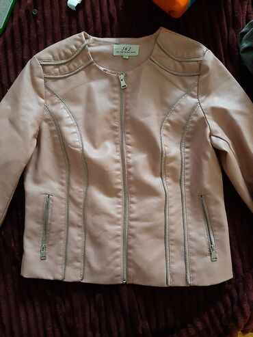 Zenska jakna puder roze boje,od eko koze vel.XL