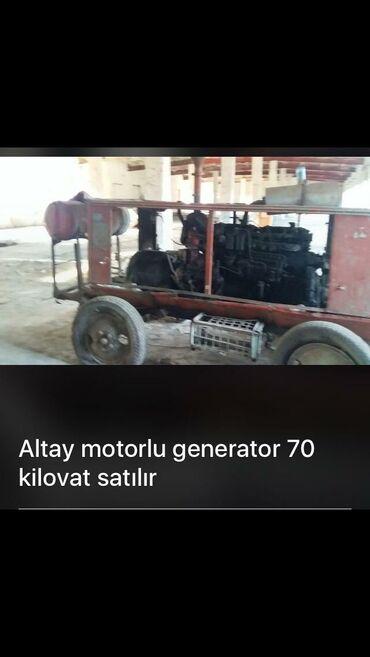 Altay motorlu generator 70 kWt. Ancaq wadliq evinde işlənib. Unvan
