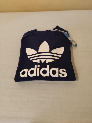 Adidas-l-velicina - Srbija: Muski Adidas duks u teget boji velicina S