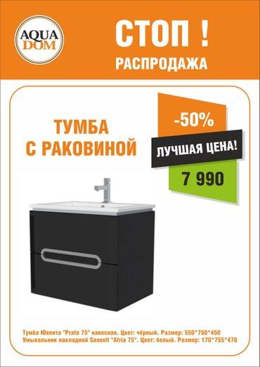 Другая сантехника в Кыргызстан: Купи выгодно красивую мебель для ванной комнаты со скидкой 50% до 31 м