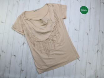 Женская футболка с бахромой Your Ole Style, р. М   Длина: 72 см Пог: о