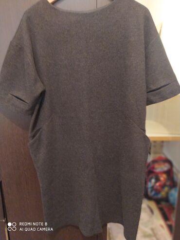 черное платье футляр в Кыргызстан: Теплое платье футляр. Состояние отличное. Размер 48-50