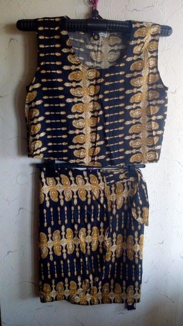 Komplet od pamuka..bluza i suknja na preklop..Bluza obim grudi - Kraljevo