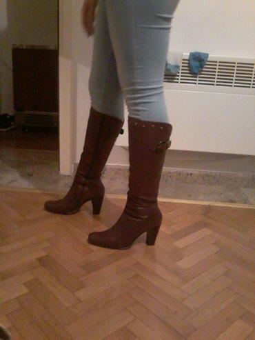 Kožne čizme, jednom obuvene - Bogatic