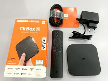 android tv в Азербайджан: Android smart tv box Original Xiaomi Mi Box S 4K Ultra HD Android 9