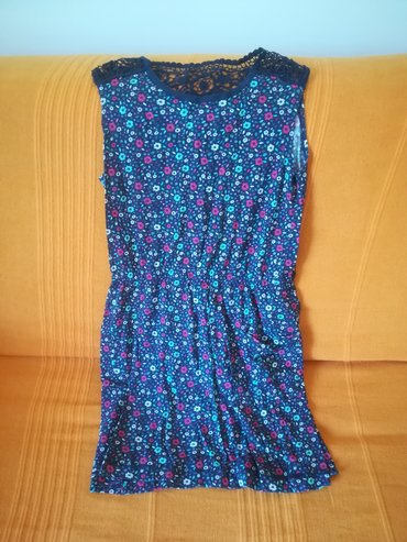 Kvalitetna plava haljina H&M za tople dane vel 8/10, bez