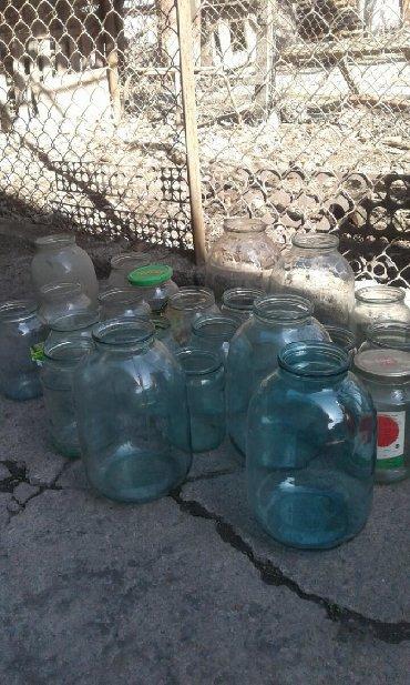стекляные банки в Кыргызстан: Стеклянные банки разные . много