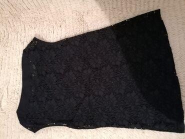 Cipkana bluza - Srbija: Zenska lisca crna cipkana bluzica, nova, velicina 40, pamuk, elastin